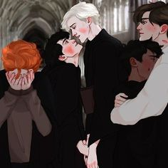 Read from the story Harry Potter \drarry talks/ by (Słowacka) with reads. Draco Harry Potter, Harry Potter Comics, Harry Potter Anime, Arte Do Harry Potter, Harry Potter Ships, Harry Potter World, Spideypool, Harry And Hermione Fanfiction, Drarry Fanart