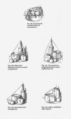 """Composition examples: Composition Tips from """"Rendering in Pen and Ink"""" (Temple of the Seven Golden Camels)"""