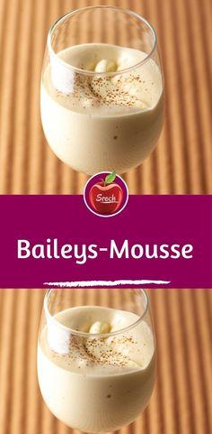 Baileys mousse - Ingredients: 60 g sugar 3 glasses / glasses of cream liqueur / cream liqueur 1 tbsp water 3 pieces - Easy Smoothie Recipes, Easy Smoothies, Good Healthy Recipes, Snack Recipes, Dessert Recipes, Bailey Mousse, Dessert Blog, Coconut Smoothie, Pumpkin Spice Cupcakes