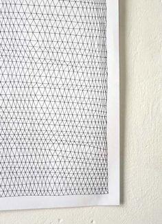 LOUISE NAUNTON MORGAN, ISO GRAPH DETAIL: triangle stacks.