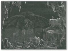 Dante's Cocytus, as illustrated by Gustave Doré (1832-1883). Also we shall have to reject all the terrible and appalling names describe the world below --Cocytus and Styx, ghosts under the earth, and sapless shades, and any similar words of which the very mention causes a shudder to pass through the inmost soul of him who hears them.