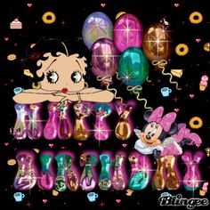 Betty Boop Bday Wishes | betty boop, minnie mouse birthday wishes
