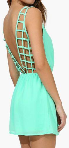 Mint romper // love the back design