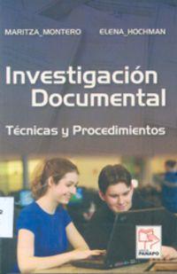 Investigación Documental de Montero y Hochman