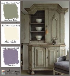 Colorways with Leslie Stocker » Swedish Cupboard inspires Annie Sloan Chalk Paint® Color Palette.Chateau Grey, Emile, Old White