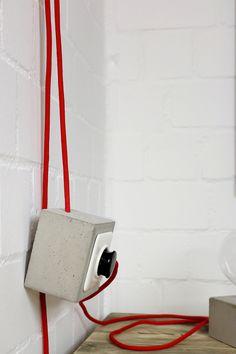 Türstopper - Steckdose aus Beton grau | Türstopper aus Beton - ein Designerstück von Alexej-Nagel bei DaWanda