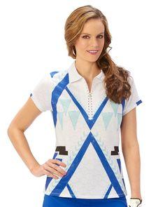 Nancy Lopez Faith Short Sleeve Polo- Available in three colors!