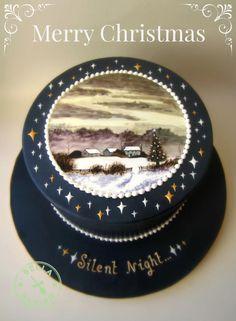Silent Night Christmas Cake - 2014 - Cake by Bella Baking