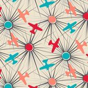 Spoonflower fabric aviation airplanes vectors