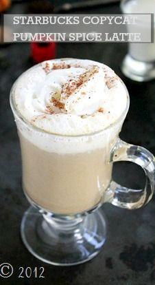 Make this Starbucks Copycat Pumpkin Spice Latte on Thanksgiving morning!