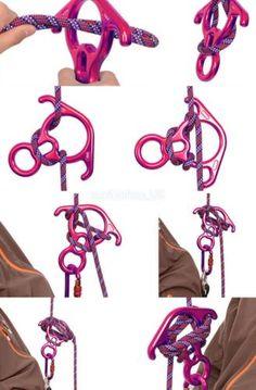 50KN Figure 8 Rappel Tree Rock Climbing Descender Belay Carabiner Safe Gear | Carabiners & Hardware | Climbing/ Mountaineering - Zeppy.io