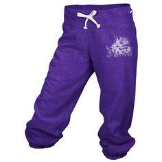 TCU Horned Frogs adidas Purple Women's Logo Cropped Capri Pants