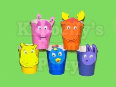 10 Backyardigans cups by kimberlysfoamparty on Etsy, $8.50