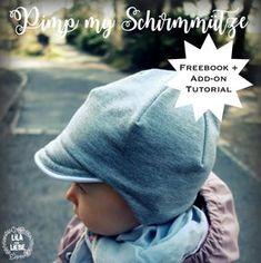 Supermüzz – Freebook: Kindermütze / Wendemütze für warme Ohren nähen warm kids cap – easy and fast sewn – reversible cap – with umbrella, cuffs and with the best ribbon fastener in the world – fit! Knitted Hats Kids, Knitting For Kids, Kids Hats, Crochet For Kids, Crochet Hats, Sewing Projects For Kids, Sewing For Kids, Baby Sewing, Baby Knitting Patterns