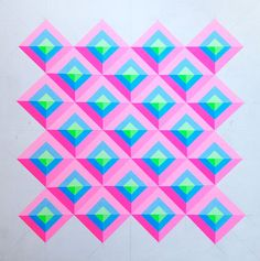 Carl Cashman | Thinkspace Gallery Geometric Patterns, Geometric Art, Library Art, Sketch Pad, Small Words, Illusion Art, King Kong, Neon Colors, Art Fair