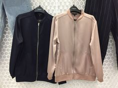 Tap into a softer utilitarian look with this bomber jacket. Finished with a shiny look and all-over sateen, it's complete with authentic details, ribbed trims, metal hardware and practical side pockets. #Topshop #PersonalShoppers
