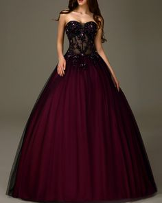 Cheap dress outfits, Buy Quality dresses rhinestones directly from China dress long sleeve tunic dress Suppliers: Black and Burgundy Quinceanera Dresses 2016 Tulle Lace Appliques Sweet 16 Dress Peach Cheap