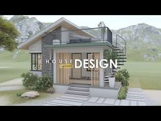Best Small House Designs, Modern Small House Design, Modern Exterior House Designs, 2 Bedroom House Design, House Roof Design, Tiny House Design, Modern Bungalow House, Cottage Style House Plans, Minimal House Design