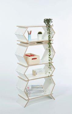 Een opvouwbare boekenkast - Roomed | roomed.nl