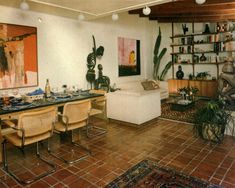 Home Inspiration/Weale, Croake, & Weale My Living Room, Home And Living, Living Spaces, Pollo Tropical, Retro Interior Design, 1980s Interior, 70s Home Decor, Home And Deco, Interior Inspiration