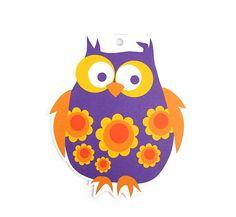 violet owl by Blafre Design