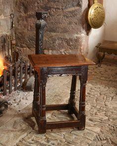 Late Elizabethan joined oak stool, circa 1600. Marhamchurch antiques