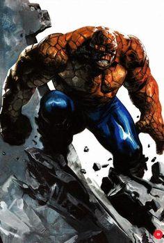 Ben grimm*the thing Superhero Family, Superhero Characters, Comic Book Characters, Comic Character, Comic Books Art, Comic Art, Marvel Comics Superheroes, Marvel Art, Marvel Heroes