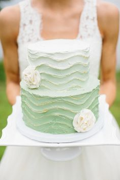 Light Green wedding cake