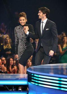 Celeb Diary: Nina Dobrev  Ian Somerhalder @ 2014 People's Choice Awards