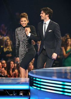 Celeb Diary: Nina Dobrev  Ian Somerhalder @ 2014 People's Choice Awards