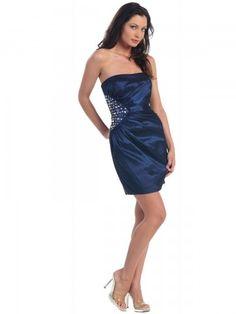 2012 Style Sheath / Column Strapless Rhinestone Sleeveless Short / Mini  Taffeta  Cocktail Dresses / Homecoming Dresses