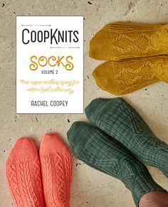 CoopKnits Socks Volume 2 by Rachel Coopey. Distributed by Fyberspates. #socks 'handknitsocks #sockknitting #knittingpatterns
