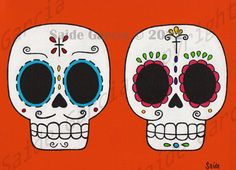 Day of the Dead Couple Boyfriend and Girlfriend Original by saide, $5.00