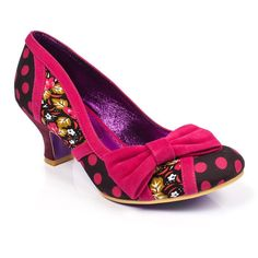 <p>With a classic velvet touch and a dash of rouge you will be the ultimate 40's siren in these vintage inspired mid heels from Poetic Licence. Featuring a floral and polka dot fabric upper with a velvet trim and bow and comfortable mid heel.</p> <ul> <li>Mid heel</li> <li>Velvetine edging and bow embellishment</li> </ul>