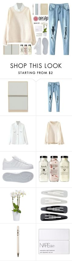 """""""Roots   Oasap 8"""" by alexandra-provenzano ❤ liked on Polyvore featuring adidas, Forever 21, Seltzer, NARS Cosmetics and FOSSIL"""