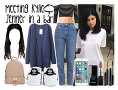 """Meeting Kylie Jenner in a bar"" by luni-salazar ❤ liked on Polyvore featuring Forever 21, Topshop, adidas, MICHAEL Michael Kors, MAC Cosmetics and Chanel"