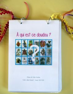 1projetdoudous7livreréalisé Petite Section, Mo Willems, French Resources, Primary School, Montessori, Back To School, Preschool, Blog, Teaching