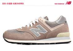 Los 2.013 hombres genuinos y mujeres se divierten los zapatos tres colores primarios 574 zapatos corrientes lentas clásicos retro