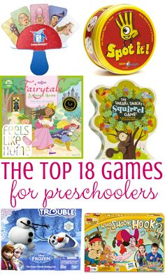The Best Games for preschoolers from a preschool mom and educator