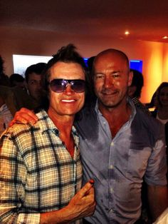 Yours truly and my mate Alan Shearer ex England Captain and Number 9 ~ we got soaked at my acoustic Show in RIO #WorldCup