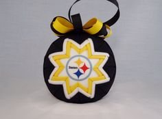 homemade Pittsburgh Steelers ornaments | Pittsburgh Steelers NFL Folded Star Ornament (Q180)