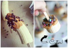 Banana Peanut Butter Bites - Sugar Bee Crafts