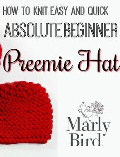 ea48488a871 Even absolute beginners can knit up this quick and easy preemie hat project  for charity!