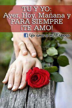 Tu y yo para siempre.....te amo!
