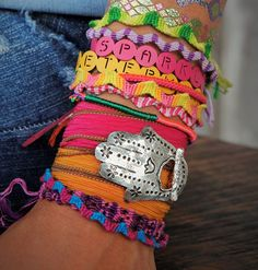 Hamsa Hand Silk Wrap Bracelet, Yoga Jewelry by HappyGoLicky. CLICK pic to buy $48, coupon code PIN10 saves you 10% now.