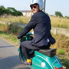 #vespaclubseigiorni #vintage #giallo #verde #calzini #ferocious
