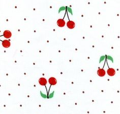 Red Cherries Fabric