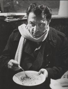 Fellini eating spaghetti. #fellini #spaghetti