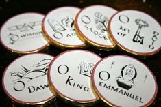 Catholic Cuisine: O Antiphons :: Incorporating an Old Monastic Tradition in the Home. Lots of great ideas for celebrating the O Antiphons in Advent! Catholic Icing, Catholic Kids, Catholic Crafts, Catholic Priest, Roman Catholic, Cracker House, Chocolate Coins, Advent Season, Advent Wreath
