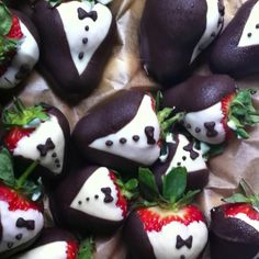 Tuxedo strawberries for the house of Beth launch party this evening